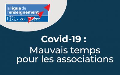 Covid-19: mauvais temps pour les associations